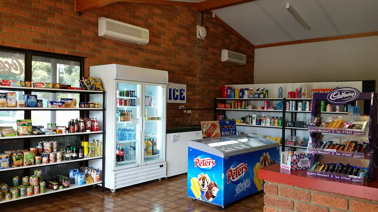 Small Kiosk with icecreams, sweets, basic grocery items and ice
